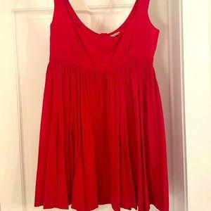 Miu Miu Red Strapless Dress